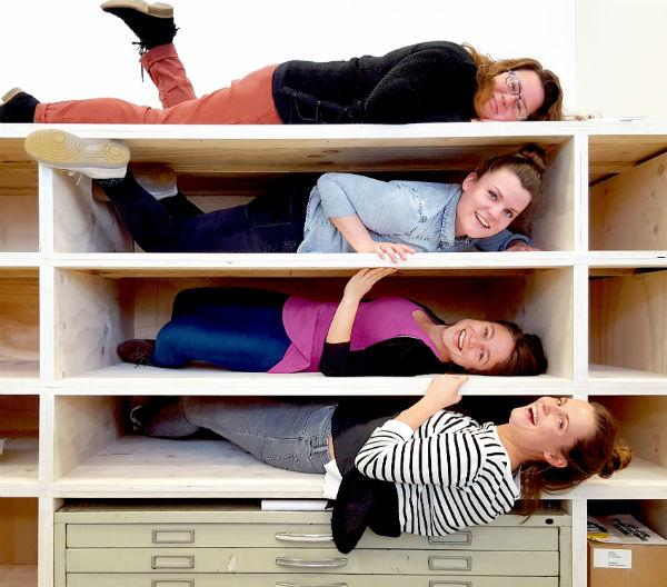 kantoorkast van hout op maat in Almere door meubelmaker Adriaan