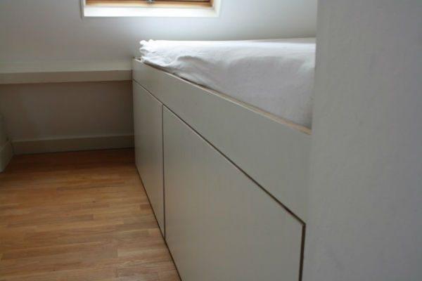 bed op maat met lades van meubelmaker Adriaan te Zaandam