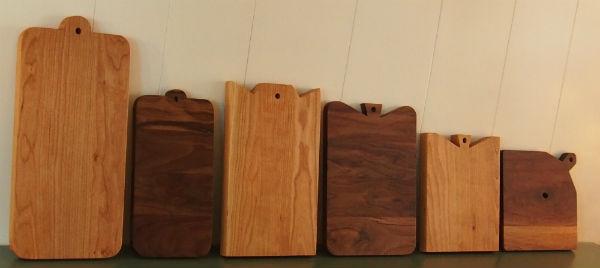 handgemaakte snijplanken van hout door meubelmaker Adriaan Zaanstreek