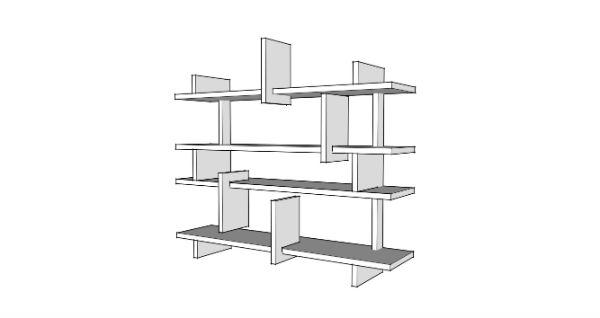 handige boekenkast trapgat door meubelmaker Adriaan in Zaandam