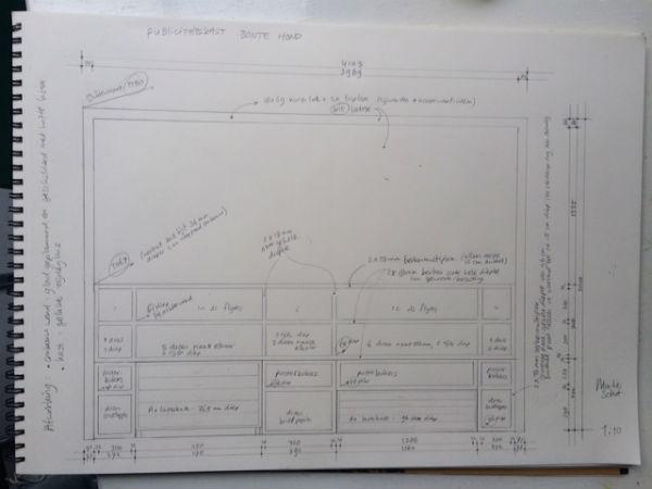 ontwerp voor een houten kantoorkast meubelmaker adriaan