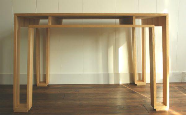 essenhouten tafel op maat meubelmaker Adriaan regio Zaanstad