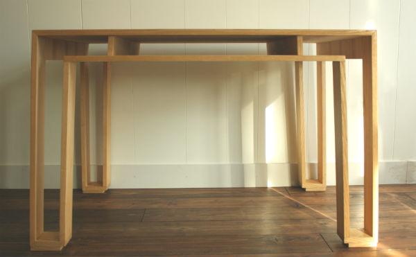 essenhouten tafel op maat gemaakt door meubelmaker Adriaan in Zaastad