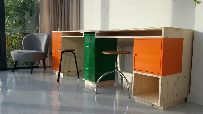 Bureau op maat door meubelmaker Adriaan ii.s.m. Lab03