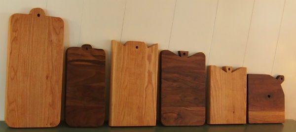 Houten handgemaakte snijplanken door meubelmaker Adriaan Groot-Amsterdam
